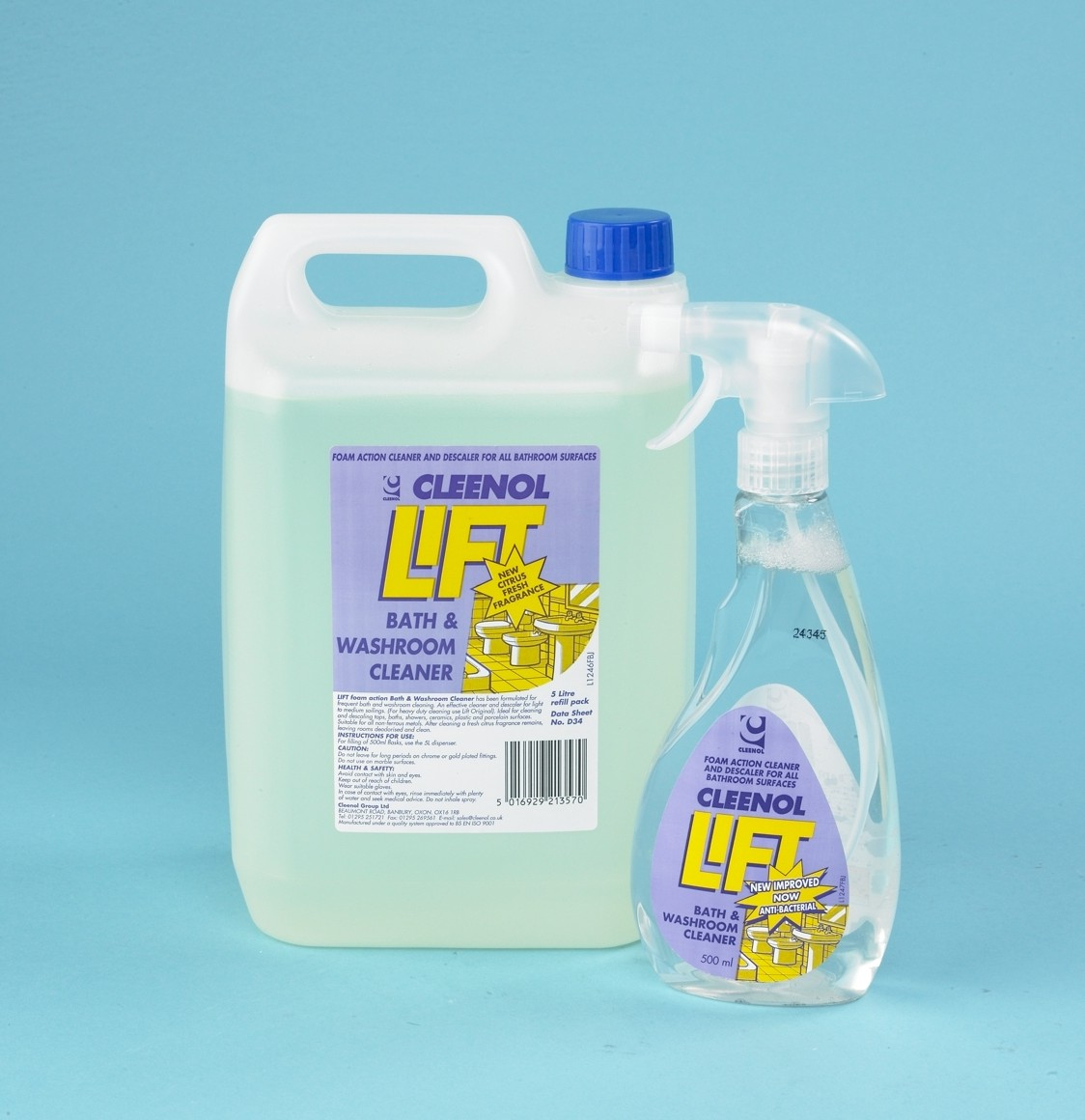 Lift Antibacterial Citrus Bath & Washroom Cleaner 6x750ml