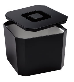 Square Ice Bucket Black 4lt